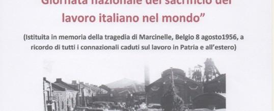 """""""Giornata nazionale del sacrificio del lavoro italiano nel mondo"""""""