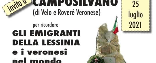"""Evento """"Gli emigranti della Lessinia"""" a Camposilvano il giorno 25 Luglio 2021"""